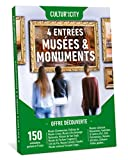 CULTUR'in The City Coffret Cadeau Culture pour 4 - 300 expositions – Box DECOUVERTE – 150 musées et monuments partout en France Musées, Châteaux, Fondations, Édifices, Centres d'Art, Maison d'artiste