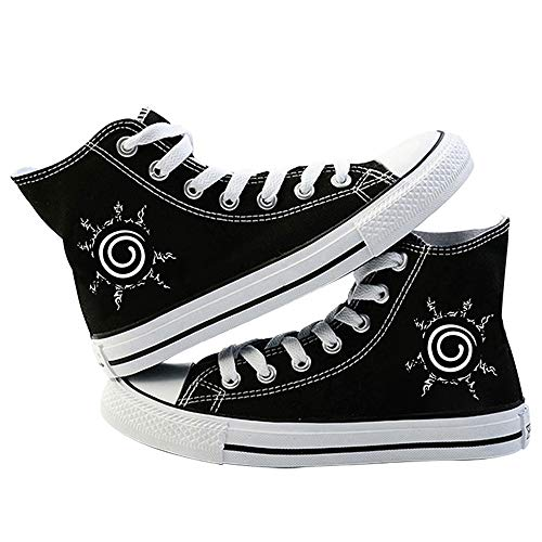 LKKOY Parcial Naruto Mujer Air Zapatos De Deportes Ligeros Respirable Antideslizante Zapatillas De Correr Zapatillas Unisex,Black 37