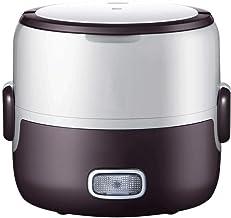 Elektrische Verwarming Lunchbox Draagbare Mini Rijstkoker Verwarming Rijstkoker Multifunctionele Dubbele Lunchbox Voedsel ...