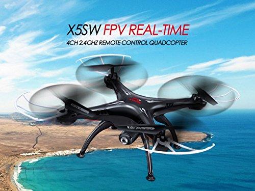 NCC Syma x5sw WiFi FPV Real de Time cuadricóptero con 2MP cámara UFO con vídeo Live de transferencia headless Mode 2.4G 4CH 6Eje de modelo más reciente En Negro