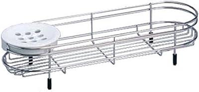 Belca ステンレス バスカウンター 1段 幅40.8×奥行12.4×高さ8cm バス収納 FS-509