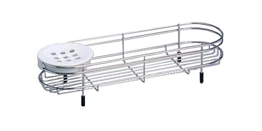 値下げ建築家磁石Belca ステンレス バスカウンター 1段 幅40.8×奥行12.4×高さ8cm バス収納 FS-509