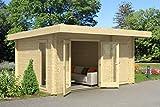 Gartenhaus G256 inkl. Fußboden - 44 mm...