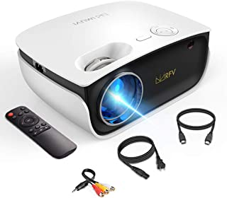 Mini Projector-2020 Upgraded Portable Video Projector with Genuine HDCP Key for Outdoor Movie/Home Theater/Video Game, Sup...