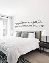 Susie85Electra Bedroom Vinyl Wall Art The Greatest Thing Youll Ever Learn Is Just To Love And Be Loved In Return Wall Quote Decal Wall Quotes