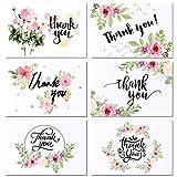 Tacobear 100 Cartes de Remerciement Carte de Voeux Merci Carte Cadeau avec Kraft Papier Enveloppes et Autocollants Carte Remerciements pour Mariage L'obtention du Diplôme Douche de Bébé (Blanc)