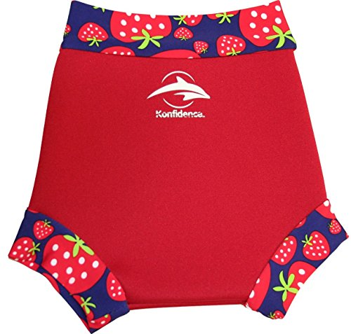 Konfidence Unisex Baby neonappy Schwimmhose Schwimmwindel Cover, Rot (Red/Strawberry), Large