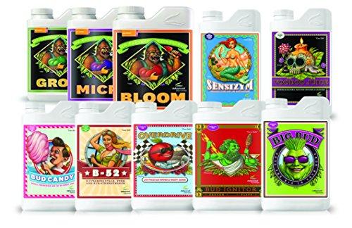 Advanced Nutrients Ultimate sistema de crecer: Voodoo Zumo, B-52Bud Candy, Sensizym, Big Bud Bud Ignitor,, Overdrive y Bloom, Micro & Grow