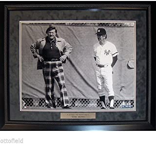 GEORGE STEINBRENNER THE BOSS STANDING w/ BILLY MARTIN 16x20 NY YANKEES FRAMED