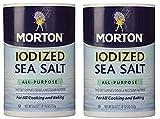 Morton Salt Iodized Sea Salt, Morton Iodized Salt, Morton Sea Salt, Iodine Salt, Naturally Harvested...
