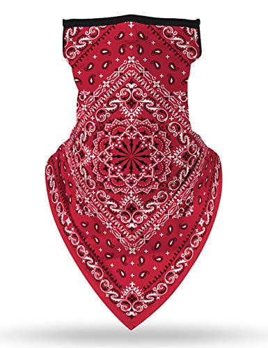 Ecosunny Face Mask Bandanas Scarf UV Protection Neck Gaiter Headwear Balaclava for Women & Men Dust Outdoors/Sports (Flower-5, 1 Pcs)