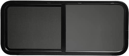 ToughGrade Horizontal Sliding Black RV Window 48