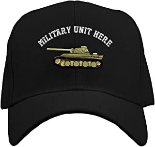 Custom Baseball Hat WWII Army Military Tank Embroidery Unit Structured Cap