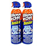 Compressed Air Duster Can MAX Professional Cleaner 1111 Blow Off Non-toxic & No Bitternt 8oz. Stop the Build-up of Dust in Your Electronics, Clogging up the Cooling Fan. Pack of 2