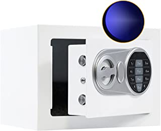 Sdstone Safe Box with Key & Sensor Light,Electronic Digital Security Safe with Keypad for Money, Wall or Cabinet Anchoring...