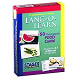 Stages Learning Materials Lang-O-Learn ESL Food Vocabulary Photo Cards Flashcards for Engl...