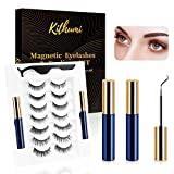 7 Pairs of Magnetic False Eyelashes and Magnetic Eyeliner Kit, 7 Pairs Of 3D Mink Hair Material Magnetic False Eyelashes, Suitable for Any Occasion, no Glue Needed, Reusable - Blue