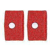 TMISHION Pulsera acupresion Anti-náuseas muñequeras Ajustable contra 5 Colores 1 par de - Muñequera para aliviar náuseas y mareos(Rojo)