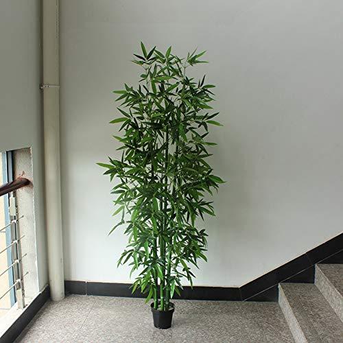 HYLZW Flor Artificial Planta Bambú Artificial 6Pcs 150Cm / 180Cm Bambú Falso Sin Maceta Verde Oficina Decoración De La Sala De Estar Planta De Bambú Falso