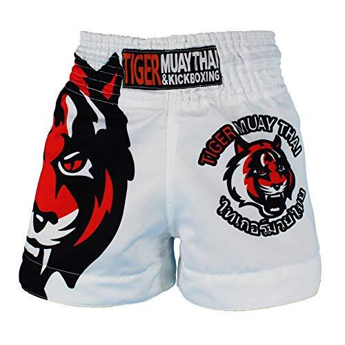 Calzoncillos de entrenamiento de kickboxing Mma Tiger Muay Thai Shorts artes marciales mixtas aptitud que se ejecuta Lucha de entrenamiento gratuito Ropa de hombre ( Color : A , Size : M )
