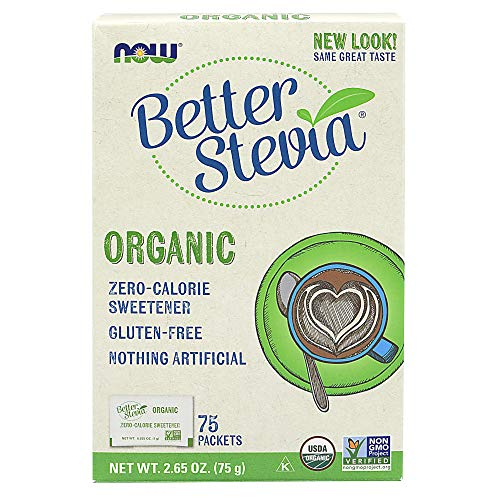 Now Foods Better Stevia Packets, Organic - 75 Packets - 75 Unidades