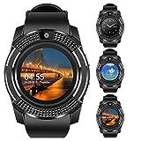 Smartwatch Hombre Reloj Inteligente 5ATM Impermeable con Cronómetro Pulsera Actividad de Fitness con Podómetro Smartwatch Niños para Xiaomi Samsung y iOS Android