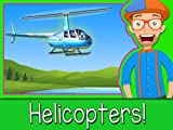 Explore A Helicopter with Blippi - Airplanes for Children