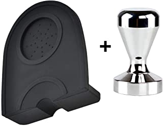 Xigeapg 51mm Coffee Tamper Mat Silicone Rubber Tampering Corner Mat Coffee Maker