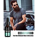 4 Pack Beard Oil Set Leave in Conditioner, Cedarwood, Sandalwood, Sage, Sweet Orange for Men Mustaches Growth, Soften… 7