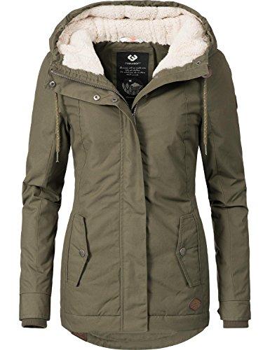 Ragwear Damen Winterparka Winterjacke Monade Khaki Gr. XL