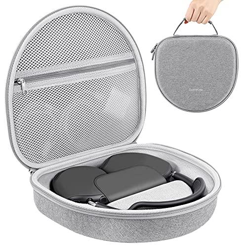 ZtotopCase Torba do przechowywania na słuchawki Airpods Max Over-Earch, ochronna twarda obudowa podróżna torba do przenoszenia z akcesoriami organizer, do nowych Airpods Max, szara