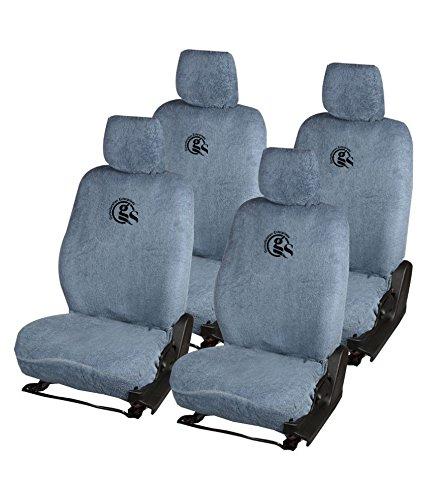 Gursudarshan GS Towel Car Seat Cover for Maruti Suzuki Baleno New (Grey)