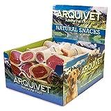 Arquivet 2742 - Expositor 20 Unidades Hueso Relleno de Bacon, Snacks Naturales para Perros, Chuches para Perros, Golosinas para Perros, Premios y recompensas para Perros