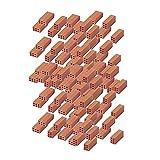 Outletdelocio. Aedes 2100. Ladrillo Rojo Miniatura. Fabricado en Ceramica. Escala 1/10. Pack de 50 Unidades. 2-43542