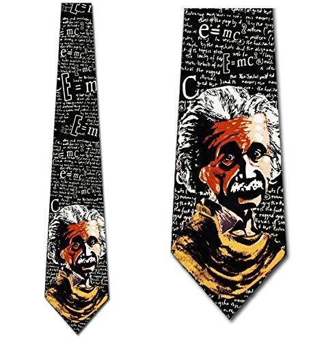 LREFON Einstein Ties E = mc2 Neckties Science Tie Corbata para hombre