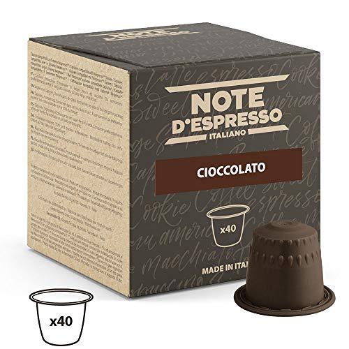 Note D'Espresso Kapseln Schokolade 7g x 40 Kapseln ausschließlich Kompatibel mit Nespresso*-Kapselmaschinen