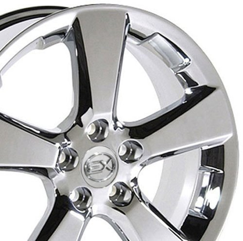 OE Wheels LLC 18 Inch Fits Lexus ES GS HS IS LS RX SC Toyota Avalon Camry Matrix Rav4 Sienna RX 330 Style LX03 Chrome 18x7 Rim Hollander 74171