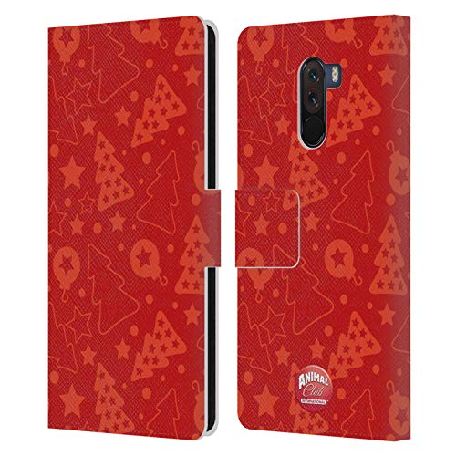 Head Case Designs Offizielle Animal Club International Weihnachtsbaum Rot Kristall Muster Leder Brieftaschen Huelle kompatibel mit Xiaomi Pocophone F1 / Poco F1