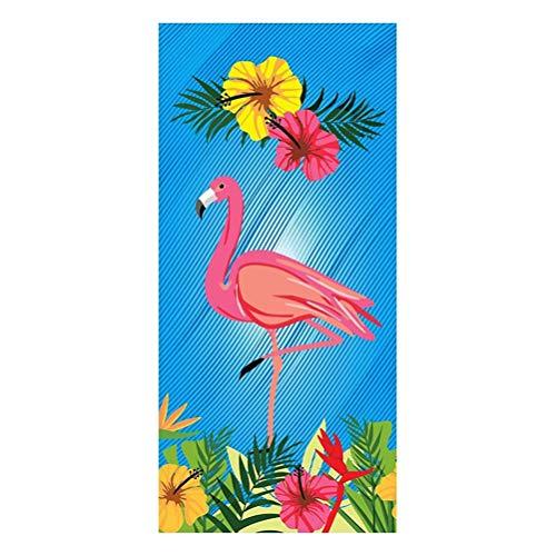 Blau Böhmen Badetuch zum Liegestühle, Tier Schildkröte Flamingo Einhorn Hund Schwimmbad Strandtücher, Schwimmen Sport Reise Fitnessstudio Strandtücher Mikrofaser Polyester (Mehrfarbig 5)