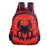 Durable Kindergarten Toddler backpack Child Book Bag spider School Bags for Kid Children Elementary Student Bookbags (Red, small)