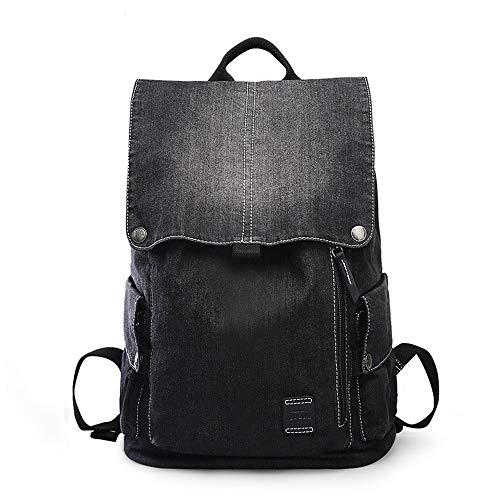 QinWenYan Mens Backpack Mens Vintage Casual Water Resistant Daypacks Backpack Denim Hiking Travel School Rucksack Laptop College Bookbag For Work Travel for Work, School, Travel