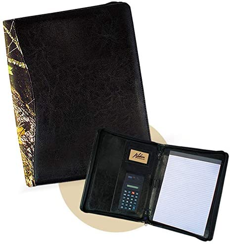 WEBER S PREMIER LEATHER Men s Leather Portfolio with Letter Sized Notebook Mossy Oak camo W product image