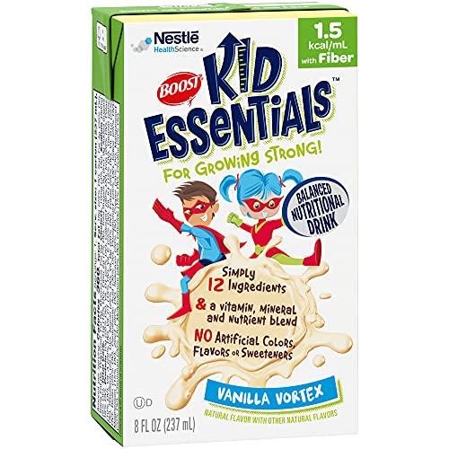 BOOST Kid Essentials 1.5 Balanced Nutritional Drink for Children with Fiber, Vanilla Vortex, 8 fl oz (Pack of 27)