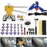 MOC Dent Repair Kit de herramientas de reparación de abolladuras, set de reparación de herramientas de reparación y martillo de goma, ancho ajustable para quitar abolladuras del vehículo