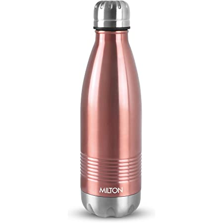 Milton Duo DLX 1000 Thermosteel 24 Hours Hot and Cold Water Bottle, 1 Litre, Rose Gold