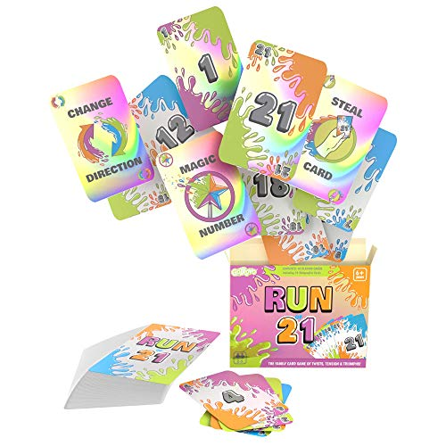 RUNof21 Card Games for Kids and Families - 2-5 Players Ages 6+ - Place a 21 to Win - Fun Card Games...