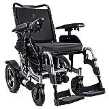 ZHENAO Silla de ruedas eléctrica Scooter Ancianos discapacitados Silla de ruedas Coche Aleación de aluminio Plegable Silla eléctrica gj