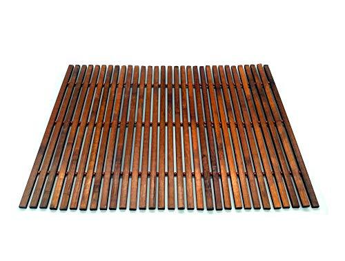 Solagua Salvamantel de Bambú Individual Pack de 4 Manteles Enrollables Antideslizantes y Antimanchas (30 x 45 cm, Art.225)