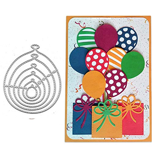 6PCS/lot Balloons Metal Die Cuts,Balloons Party Festival Invitation Card Cutting Dies Cut Stencils for DIY Scrapbooking Album Decorative Embossing Paper Dies Card Making
