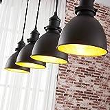 Lindby Esstisch Pendelleuchte Schwarz Gold | Hängelampe Metall | 4x E27 max. 60W | ohne Leuchtmittel |Hängeleuchte Industrial | Vintage Hängelampe